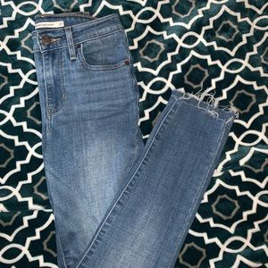 Levi's Cropped 721 high rise skinny jeans